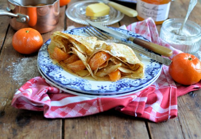 Sweet Clementine and Bitter Orange Crepes