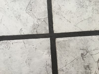 clean grout job after fixing grout
