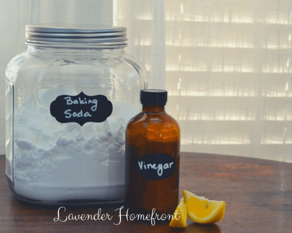 Homemade bathtub cleaner sitting on a table