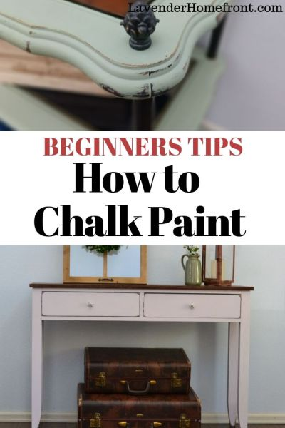beginner's guide to chalk painting furniture