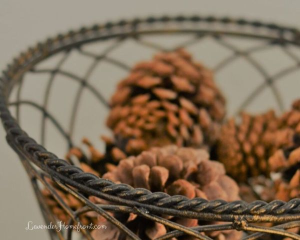 scented pinecones with cinnamon essential oil