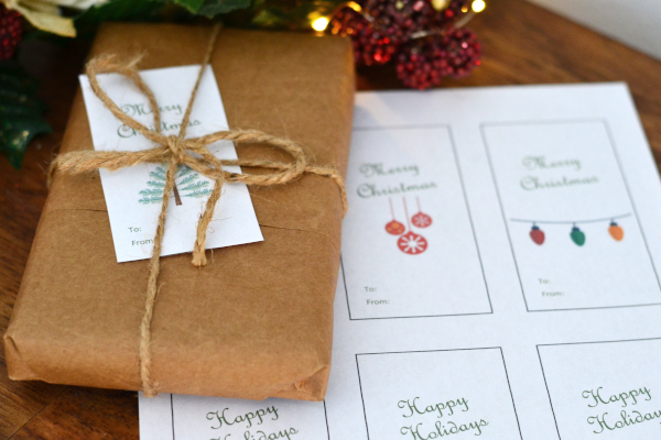 free holiday labels for your homemade christmas gifts