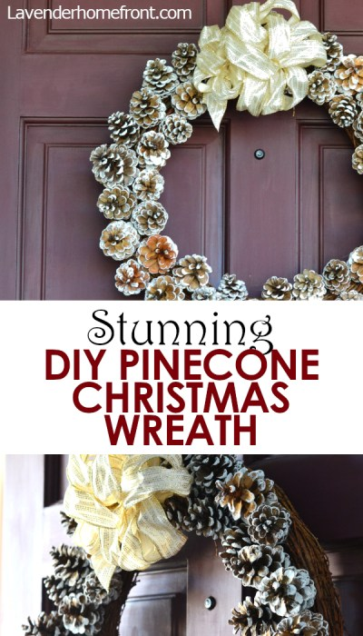 how to make a beautiful pinecone wreath for christmas