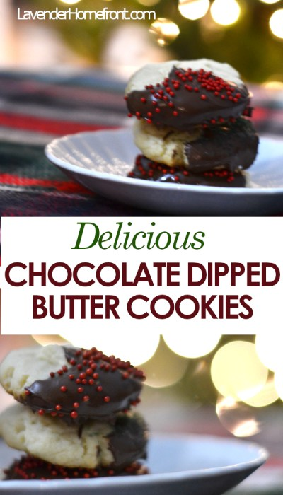 easy to make butter cookies with chocolate christmas decorations