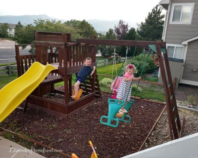 get kids outside by adding a playground to your yard