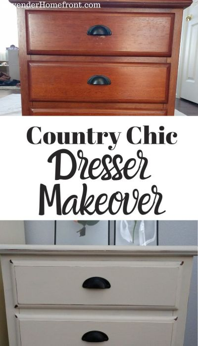 country chic dresser makeover before and after pin