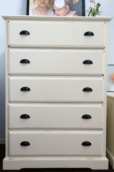 after photo of chalk painted dresser makeover