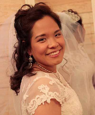 Bride in Front of Mirror