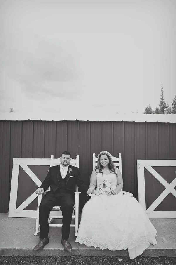 Bride and Groom In Rocking Chairs