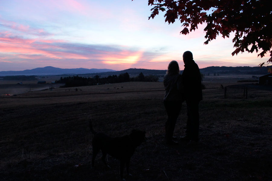 Couple Overlooking Sunrise