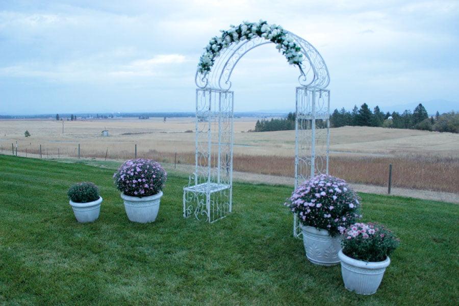 Wedding Arch Overlooking Wildrose Prarie (in Autumn)
