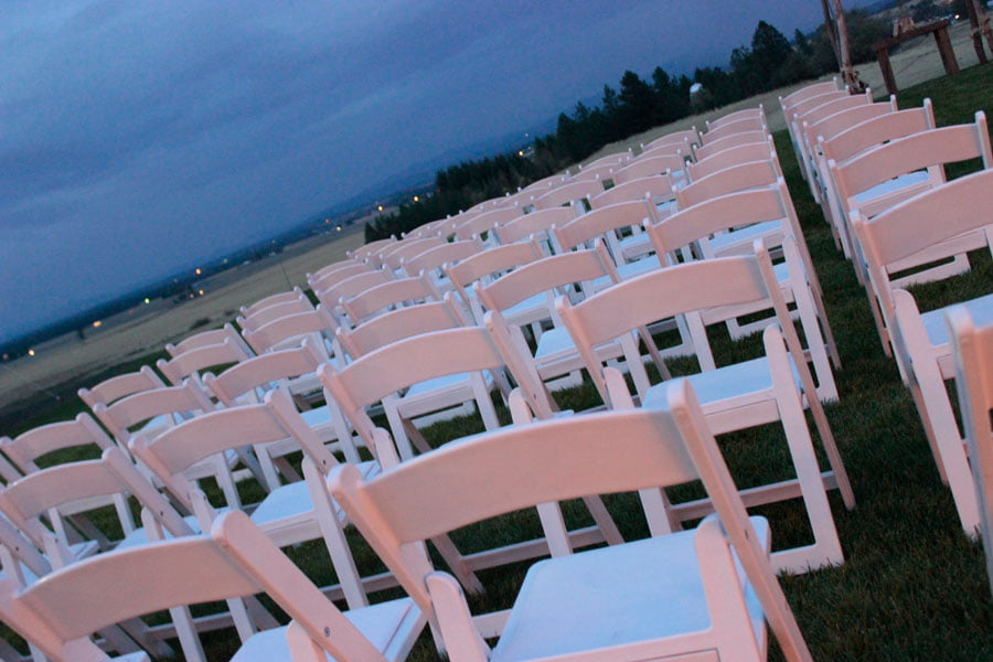 Chairs Set Up for Wedding