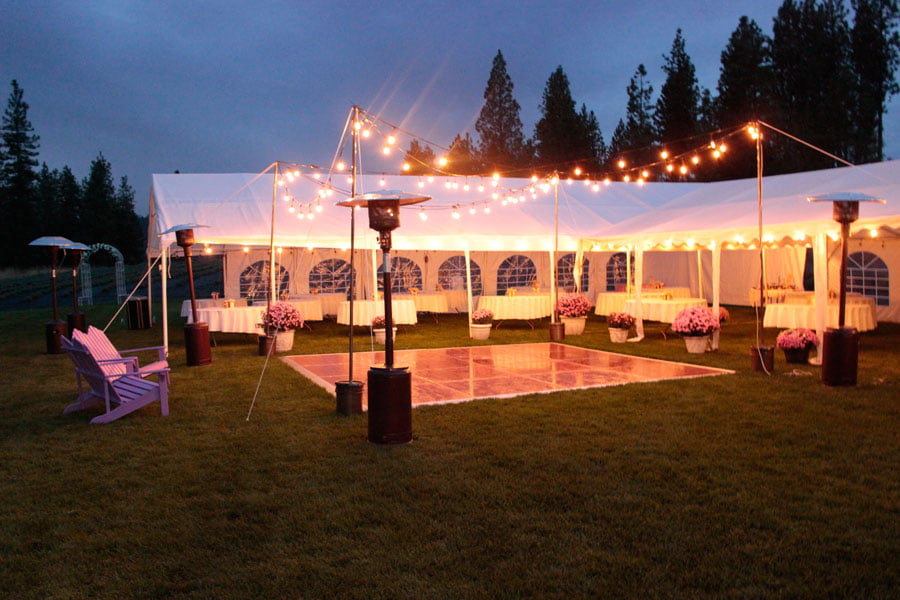 Tents at Night Fall