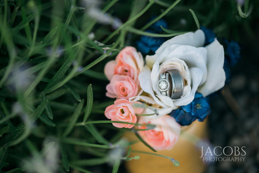 Ring Set in a Bouquet