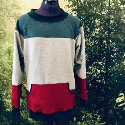 Heather Sweatshirt Pattern Hack: Colour Block