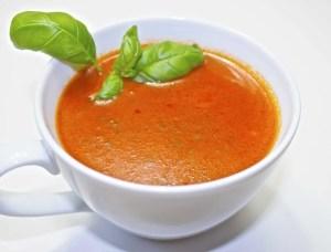 Gluten- og laktosefri tomatsuppe