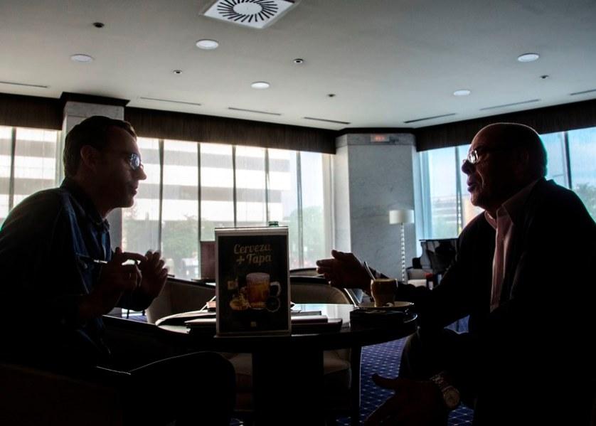 Entrevista a Miguel Reina. Foto: José Carlos Millán