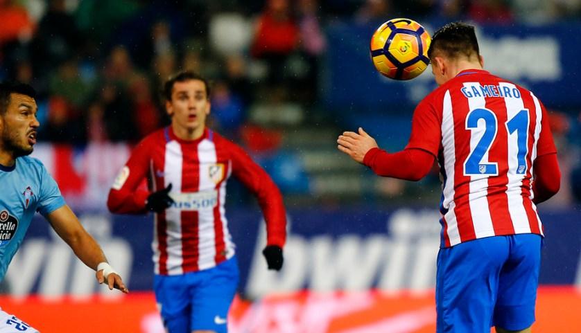 Gameiro sirve a Griezmann el gol de la victoria. Foto: clubatleticodemadrid.com