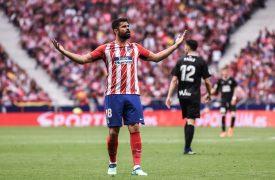 Diego Costa en el partido de despedida de Torres. Foto: Rubén de la Fuente