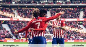 Celebración de gol con Griezmann. Foto: Rubén de la Fuente