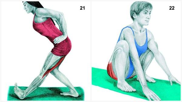 estiramientos musculares pierna