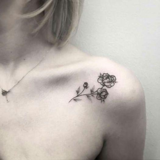 Tatuajes De Flores Con Diseños Simples Y Atractivos