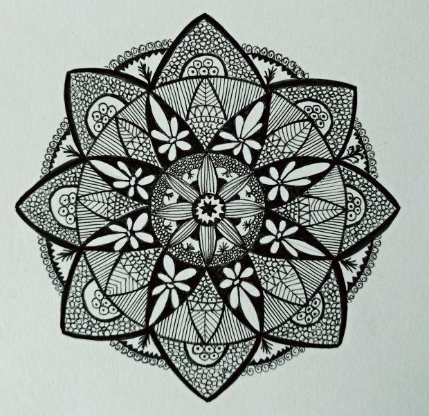 Atelier de Selky - dessin méditatif Zen and Doodle 1b