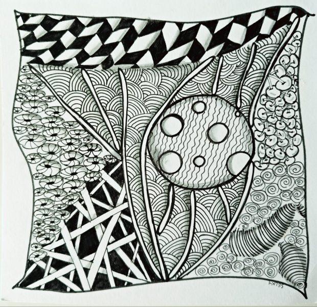 Atelier de Selky - dessin méditatif Zen and Doodle 3