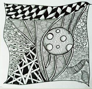 dessin méditatif zen doodle c