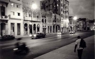 Tombée de la nuit à la Havane