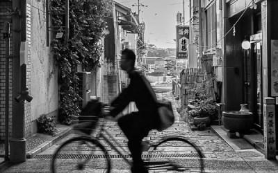Le cycliste à lunette
