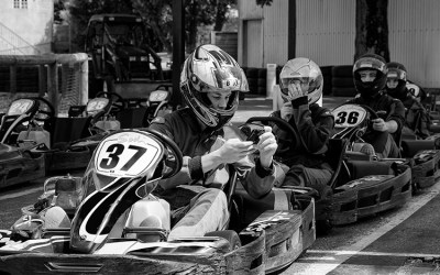 Karting: la file d'attente