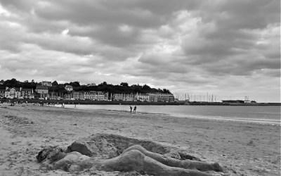 The beach…