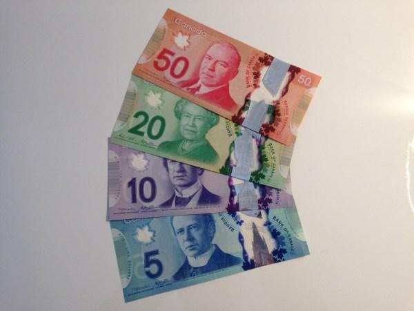 De beaux nouveaux dollars Canadiens