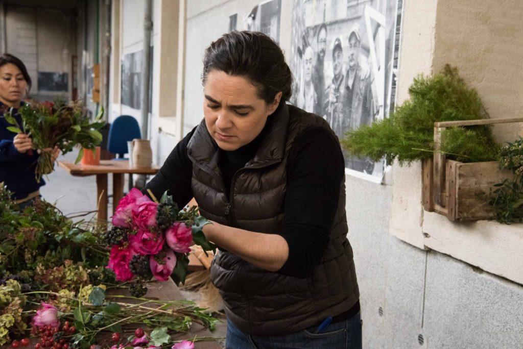 Hortense Harang, créatrice de Fleurs d'ici développe depuis deux ans un réseau national de fleuristes et de d'horticulteur « made in France » dans la mouvance slow flower.