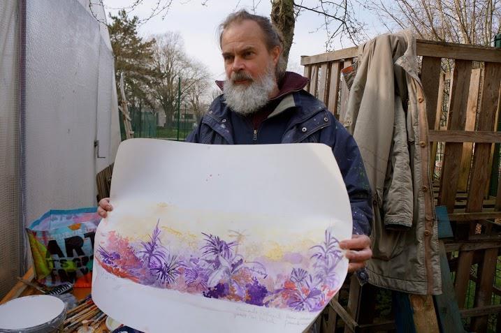 artiste - fresque jardin du monde - cité universitaire international