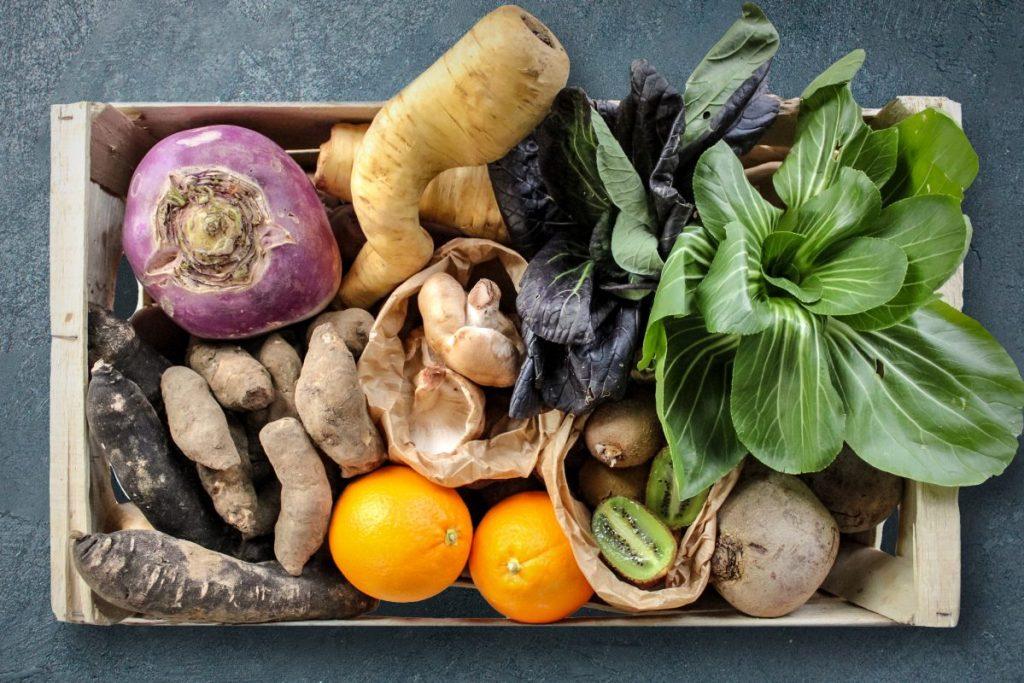 Un panier de légumes sauvé du gaspillage alimentaire