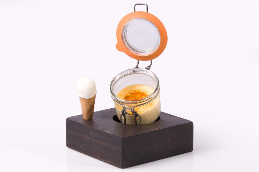 Crema de Vainilla (con helado de queso)