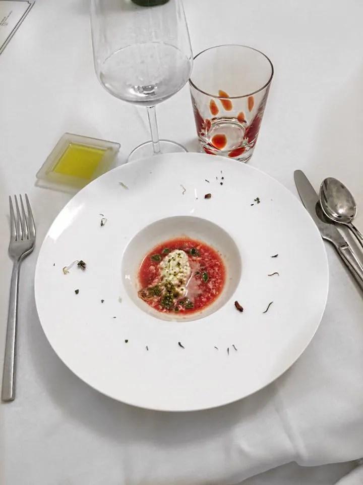 Caprese in terra di Sicilia ristorante Sabir Gourmanderie