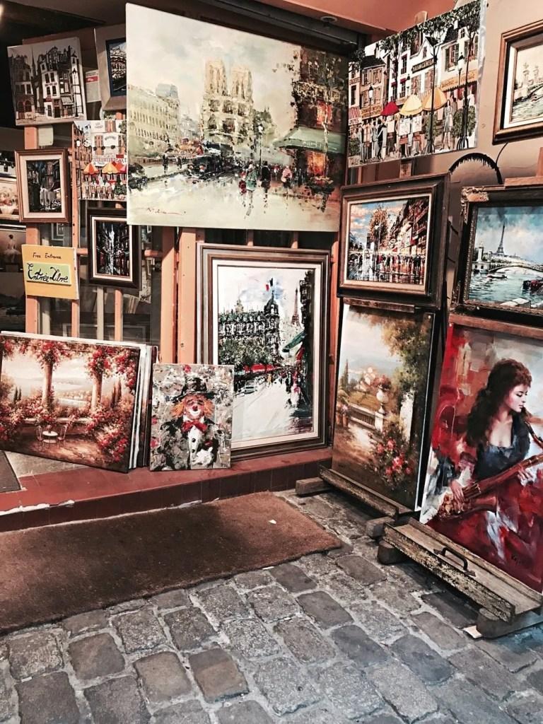 Esposizione di quadri a Montmartre Parigi