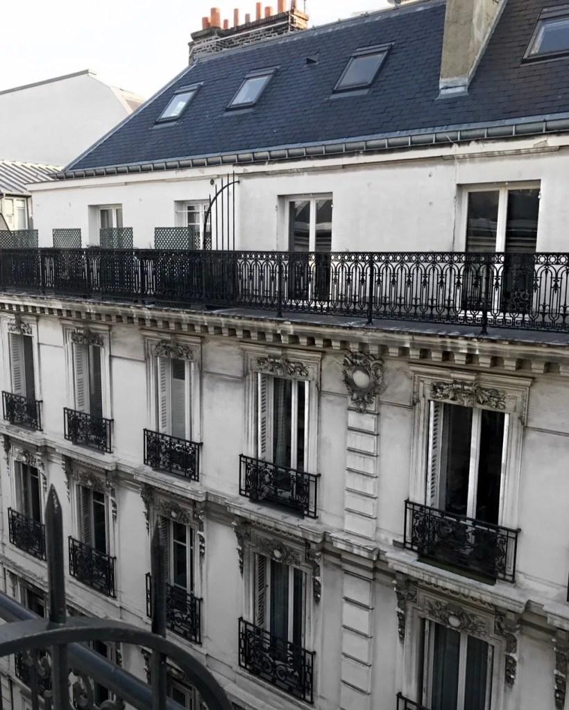 Vista dall'hotel Adele e Jules Parigi