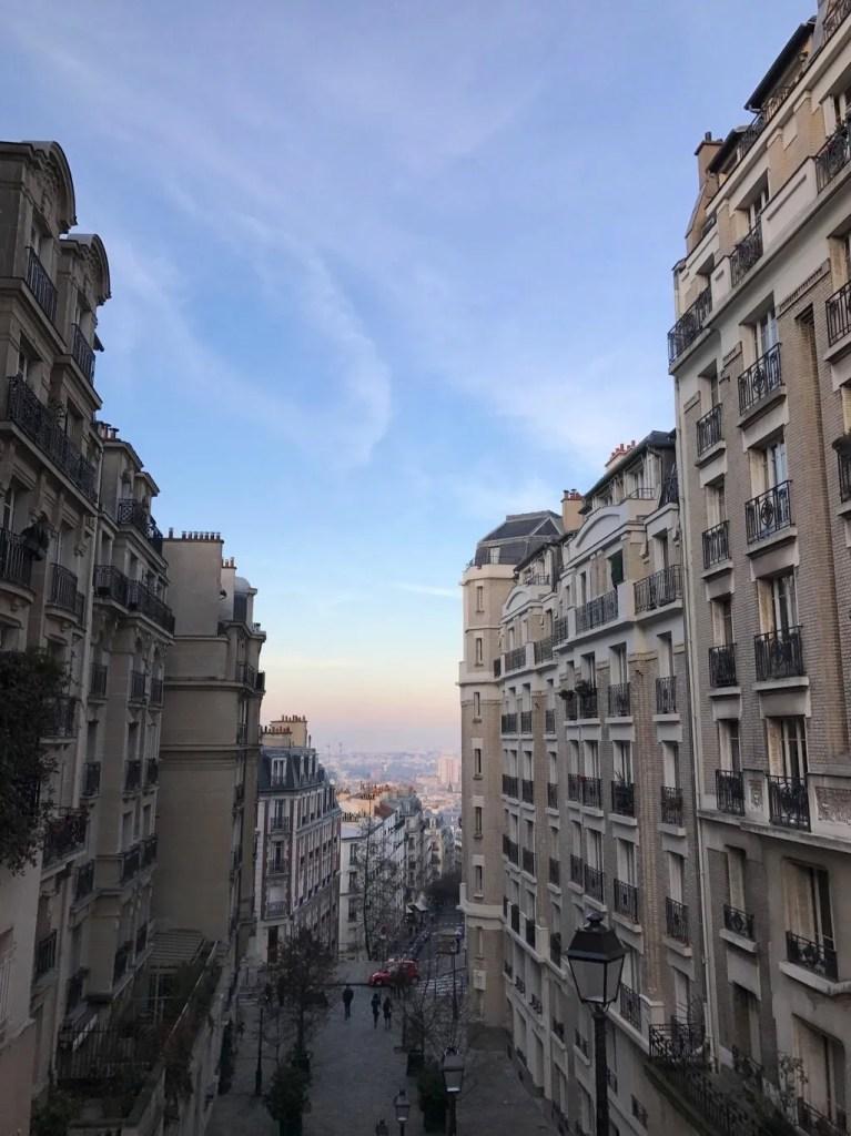 Vista Montmartre di Parigi