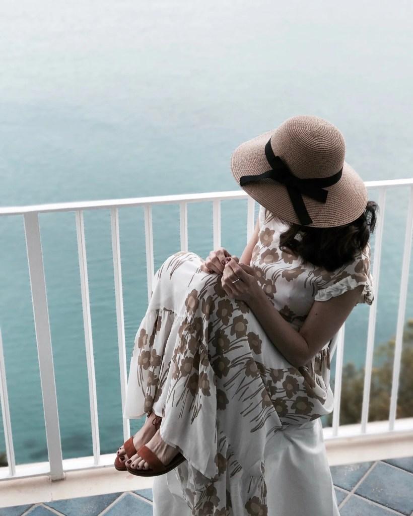 Lavinia Guglielman vista dalla stanza dell'hotel Voce del Mare per una fuga romantica