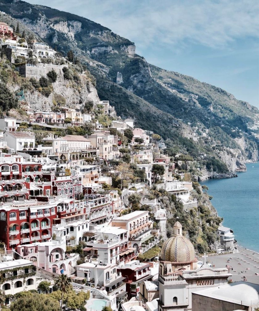 suggestiva vista su Positano