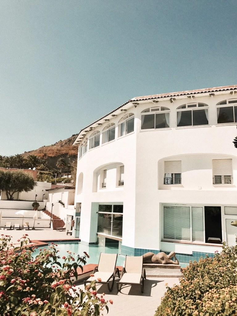 Vista del Romantica Hotel di Ischia