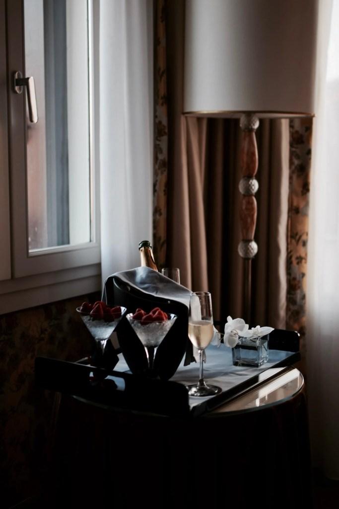 Fragole e Champagne al Papadopoli di Venezia