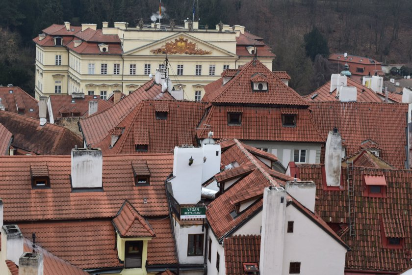 Ke Hradu - vista dalla piazza del Castello di Praga