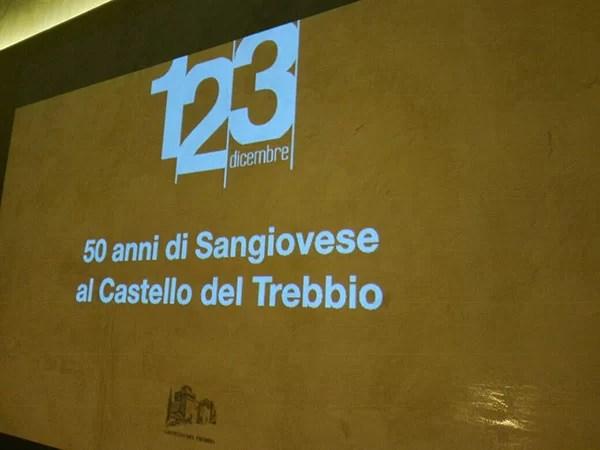 Manifesto 50 anni di Sangiovese del Castello del Trebbio