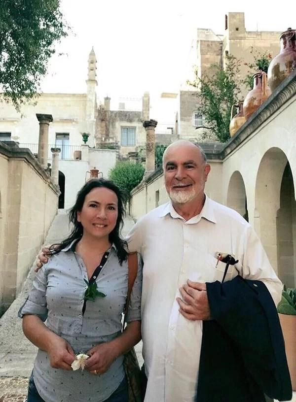 Carmen Guerriero con il Dott. Vestita
