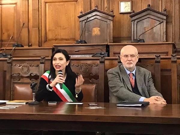 La Sindaca di Assisi Stefania Proietti e Nicola Ucci, direttore della BTRI